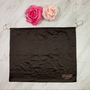 "COACH Brown Satin Dust bag Extra Large 23"" x 19"" Drawstring Storage Gift Bag"